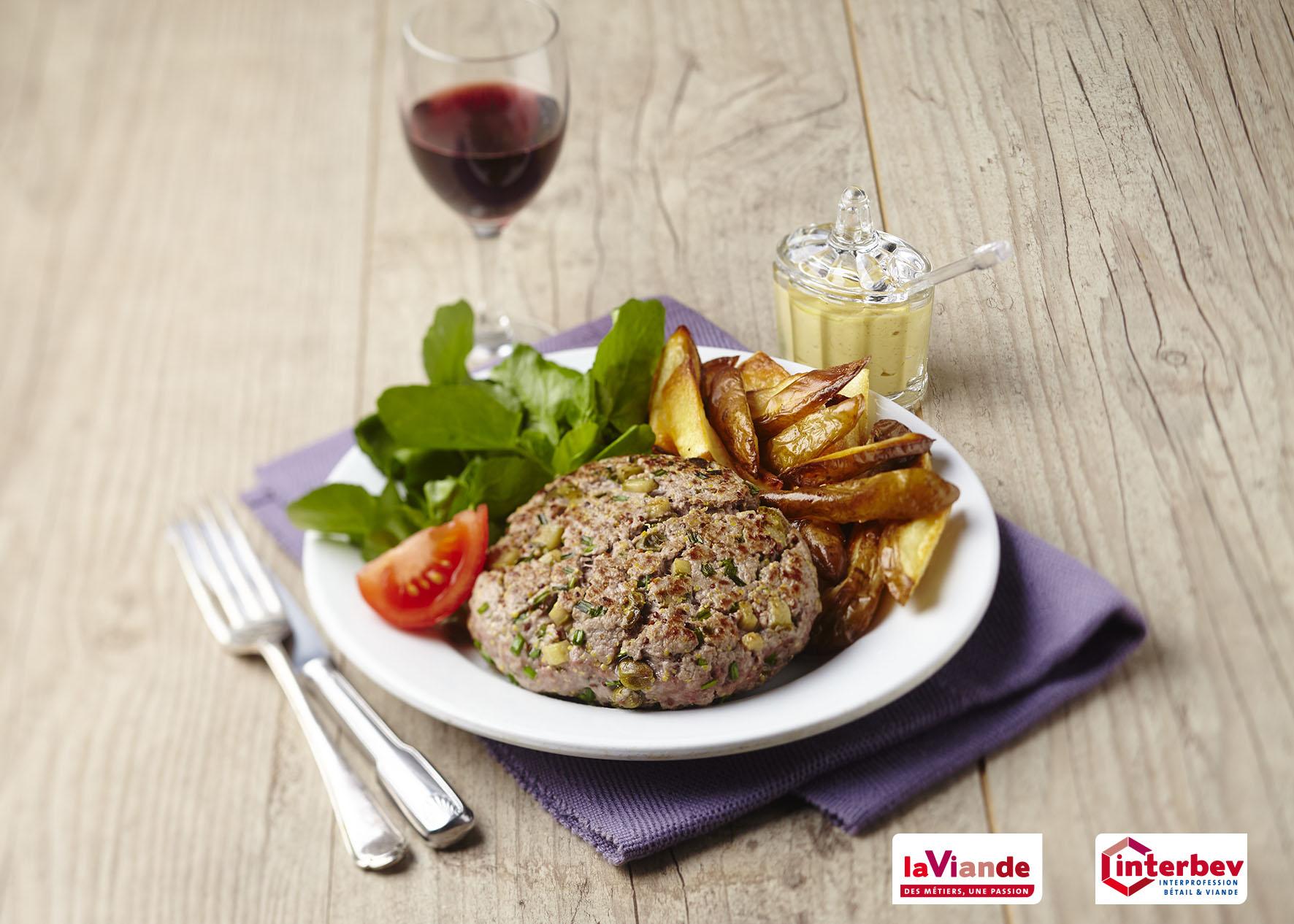 Steak haché de bœuf façon tartare